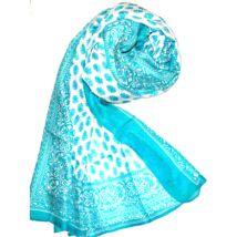 turkiz-kék-hofeher-100-valodi-hernyoselyem-sal-mintas-100x170-cm