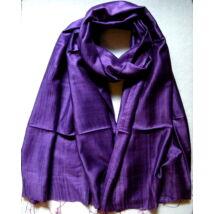Nyers hernyóselyem sál viszkózzal keverve - lila színű 70x180cm