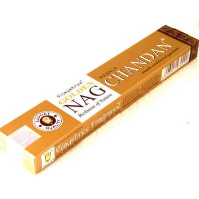 Nag Chandan füstölő az arany dobozos indiai Nag Champa