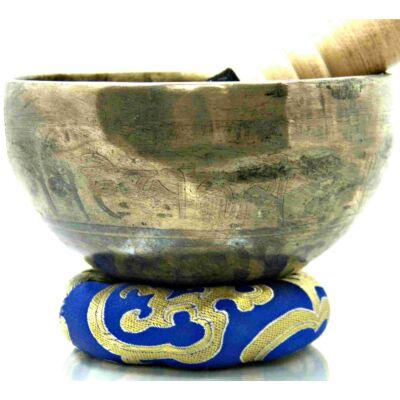 385-grammos-tibeti-mantras-hangtal-7-fembol-keszult-kék-brokattal