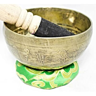 343-gramm-tibeti-mantras-zöld-brokattal