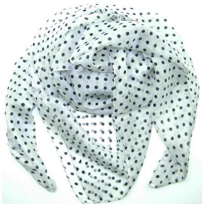 harmatfeher-alapon-bogárfekete-pöttyös-selyem-kendo-100x100-cm