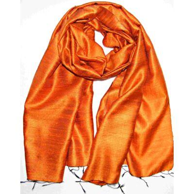 parázs-narancs nyers selyem sál