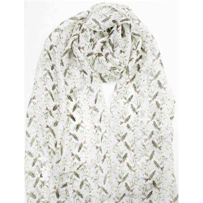 porcelanfeher-halacska mintas-selyem-sal-70x180-cm