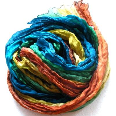 Selyem sál kellemes színkombináció tiszta selyem