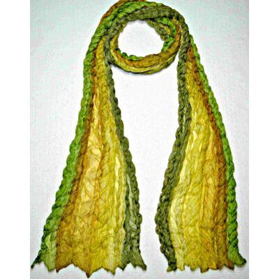kiwi okker khaki csikos selyem sál igazi óriás hernyóselyem