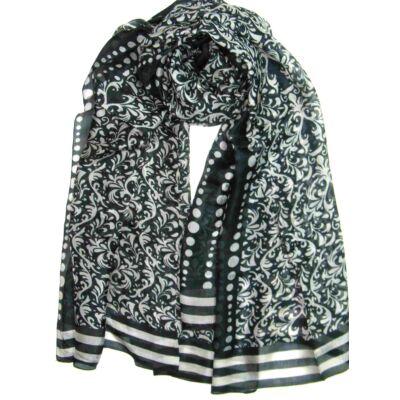 fekete-szurke-100-valodi-hernyoselyem-sal-mintas-100x170-cm