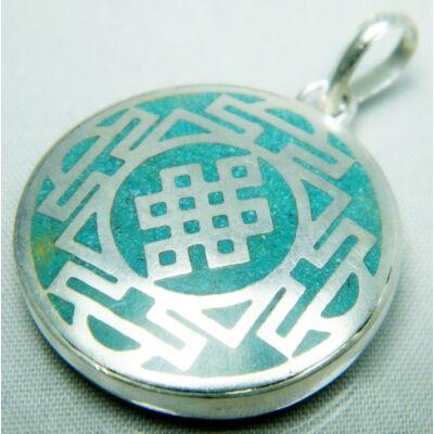 vegtelen-csomo-mandala-medal-turkiz