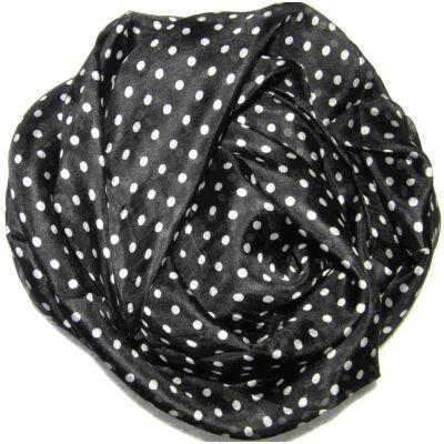 pottyos-fekete-fehér-selyem-kendo-100x100-cm