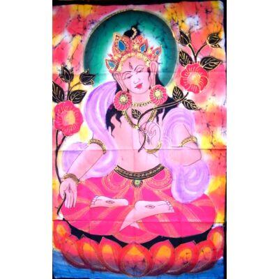 Eredeti indiai kézzel festett Tara batik kép-115x75cm-es falikép