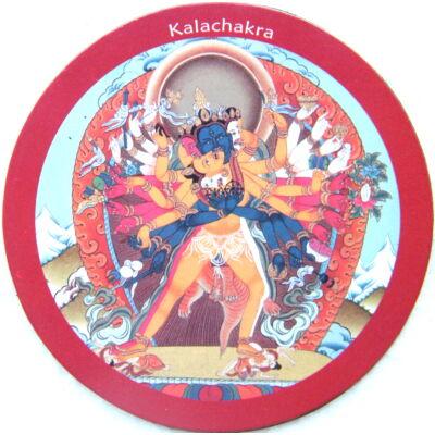 Eredeti tibeti  Kalacsakra hűtőmágnes