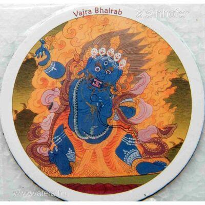 Eredeti tibeti buddhista Vajra Bhairab hűtőmágnes