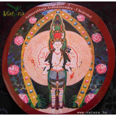 Eredeti tibeti buddhista Csenrézi matrica