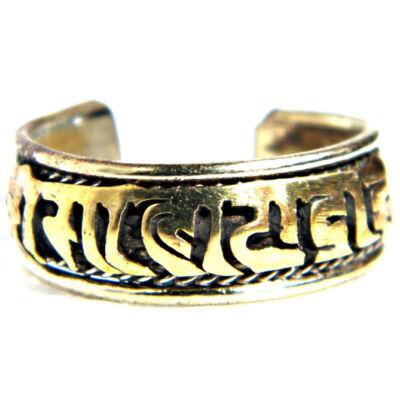 Ommanipemehung mantrás gyűrű rézből