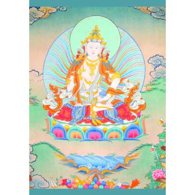 Eredeti tibeti Dordzse Szempa (Vadzsraszattva) laminált kép