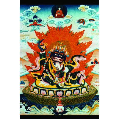Eredeti tibeti Mahakala laminált kép