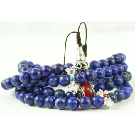 lápisz-lazuli-mala-108-szemes-tibeti-oszto-piros