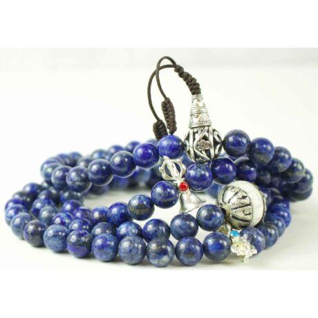 lápisz-lazuli-mala-108-szemes-tibeti-oszto-feher