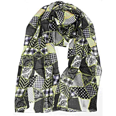 csipkefehér-alapon-szürke patchwork-mintás-valodi-selyem-sal