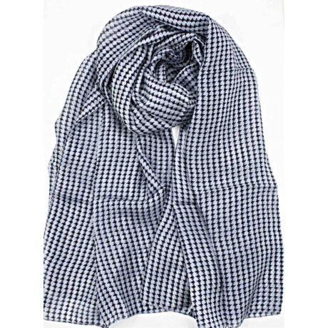 ébenfekete-acélszürke-tyuklabmintas-selyem-mintas-100x180-cm