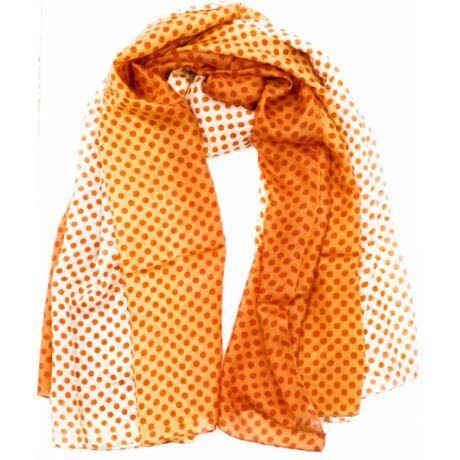 narancs-miniumvoros-pöttyös-selyem-sal-mintas-100x180-cm