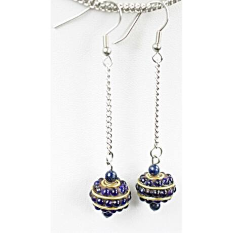 lapisz-lazuli-fulbevalo-orvosi-fem-akasztoval