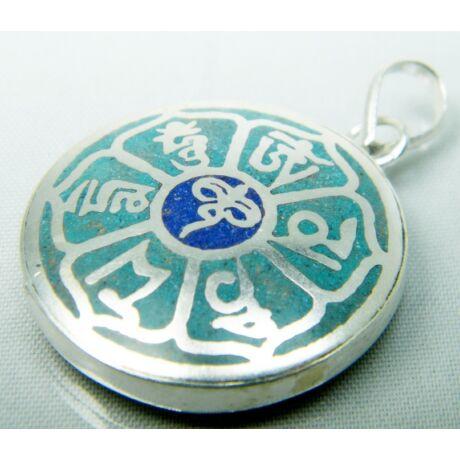 buddha-bolcsessegszeme-mandala-medal-turkiz-lapisz