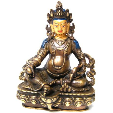 Dzambala Buddha szobor tradícionális tibeti buddhista oltárra
