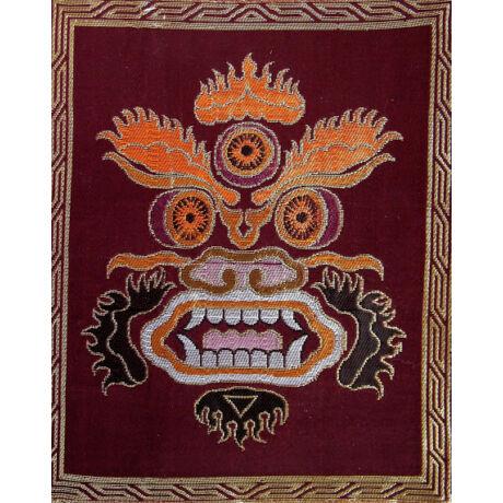 Eredeti tibeti selyem brokát Mahakala arc d2795527a0