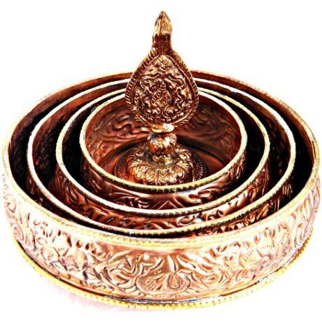 Mandala tál szett tibeti buddhista oltárra