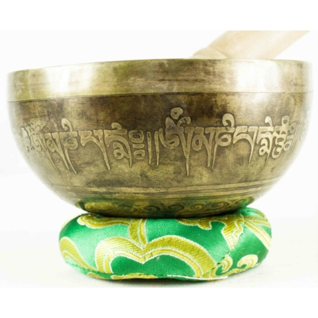 440-gramm-tibeti-mantras-hangtal-zöld-brokattal