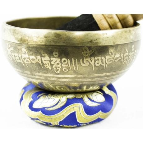 250-gramm-tibeti-mantras-hangtal-kék-brokattal