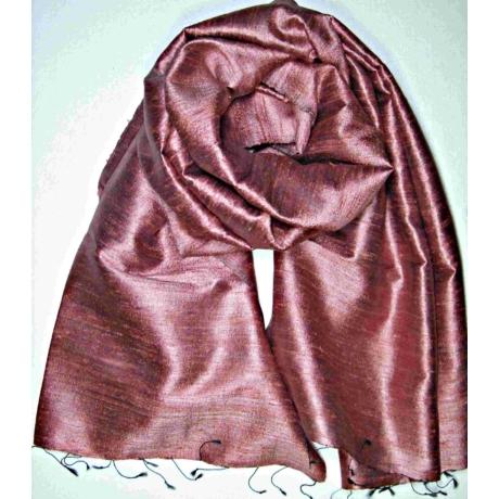mályva színű nyers selyem sál