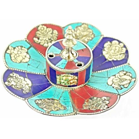 tibeti-füstölőtartó-turkiz-lapis-korall-8-szerencsejel