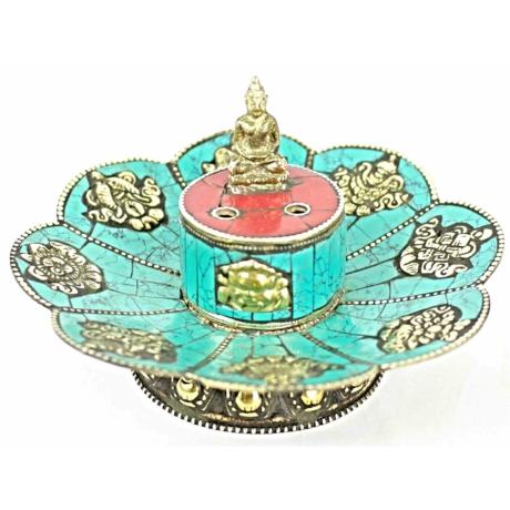 tibeti-füstölőtartó-turkiz-korall-8-szerencsejel