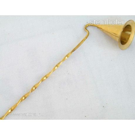 Eredeti indiai sárgaréz gyertyakoppintó